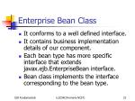 enterprise bean class