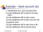 example bank account obj