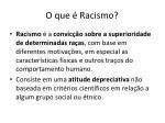 o que racismo