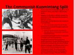 the communist kuomintang split