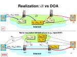 realization i3 vs doa