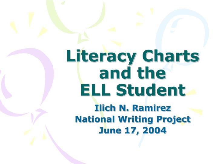 literacy charts and the ell student n.