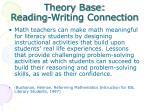 theory base reading writing connection2