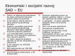 ekonomski i socijalni razvoj sad eu
