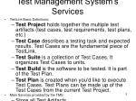 test management system s services