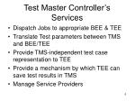 test master controller s services