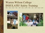 warren wilson college insulate safety training