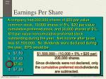 earnings per share1