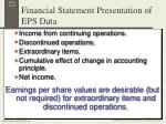 financial statement presentation of eps data