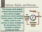 options rights and warrants