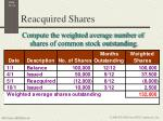 reacquired shares2