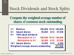 stock dividends and stock splits2