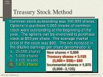 treasury stock method1