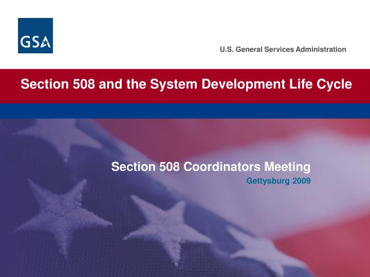 section 508 and the system development life cycle n.