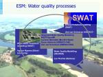 esm water quality processes