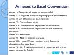 annexes to basel convention