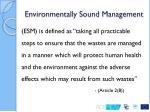 environmentally sound management