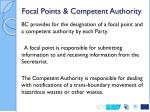 focal points competent authority