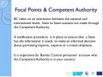 focal points competent authority1