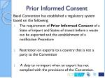 prior informed consent
