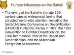 human influences on the sahel
