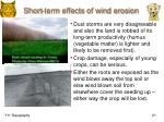 short term effects of wind erosion