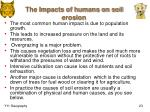 the impacts of humans on soil erosion