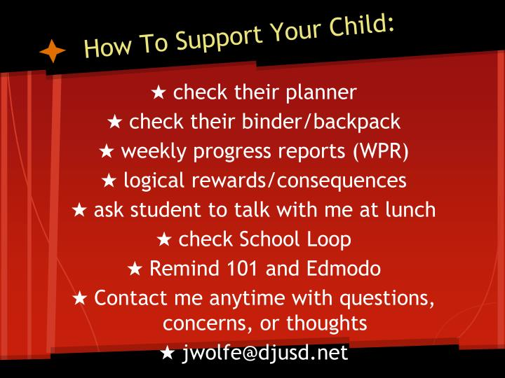 How To Support Your Child: