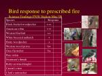 bird response to prescribed fire science findings pnw station may 08