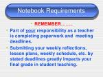 notebook requirements