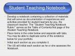 student teaching notebook1