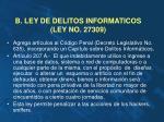 b ley de delitos informaticos ley no 27309