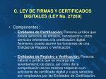 c ley de firmas y certificados digitales ley no 27269