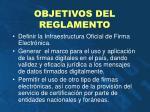 objetivos del reglamento