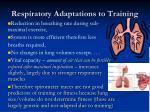 respiratory adaptations to training