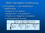 both variables continuous
