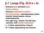 7 lungs fig 22 9 a b