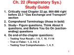 ch 22 respiratory sys study guide