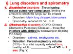 lung disorders and spirometry