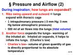 pressure and airflow 2