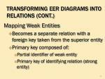 transforming eer diagrams into relations cont