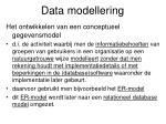 data modellering