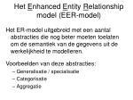 het e nhanced e ntity r elationship model eer model