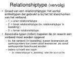 relationshiptype vervolg