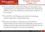 program outcomes grades 3 8 1