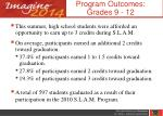 program outcomes grades 9 12