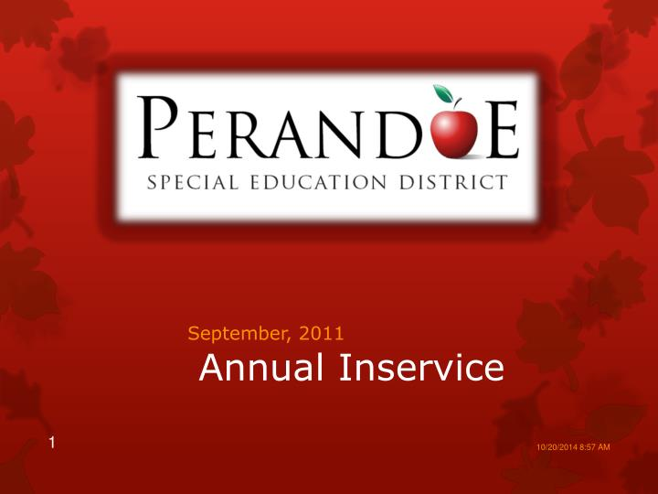 annual inservice n.