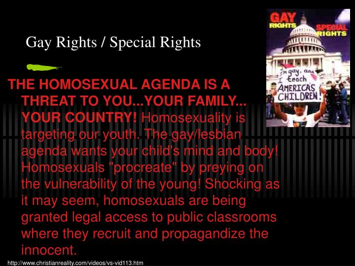 Gay Rights / Special Rights