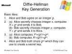 diffie hellman key generation