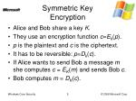 symmetric key encryption
